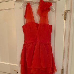 Vera Wang Lavender Label Silk Organza Dress